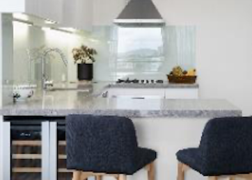 kitchen with side chairs