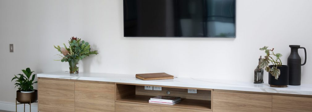 cabinet and flat screen television