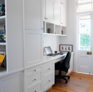 cabinet, desk and drawers