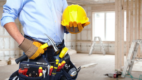 man with construction tools